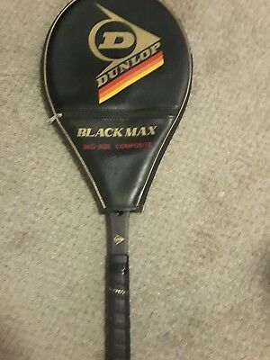 Dunlop vintage Black Max Mid (4 1/4) Tennis Racquet with cover