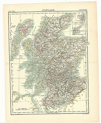 Scotland: 1895; Original map of Encyclopedia Britannica, ninth edition. MD*06