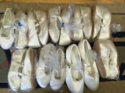 Job Lot Of 10 Pairs Girls Wedding Shoes Bridesmaid Tappers and Pointers