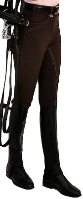 Rugged Horse Las Riding Breeches Style K4 Coffee Brown With Leather Seat