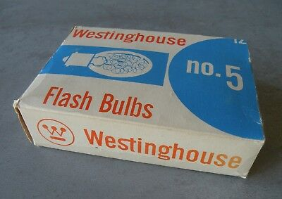 New - Vintage WESTINGHOUSE No. 5 Flash Bulbs - Pack of Six - New