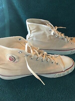 Vintage Lacrosse Indian Arch Canvas Basketball Shoes Sneakers Size 11 High Tops