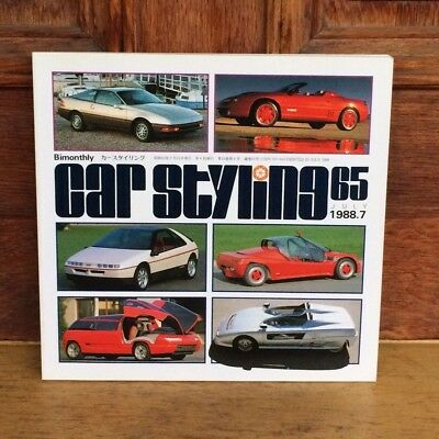 Car Styling Magazine Book 65 1988 Anese Design Torino Motor Show Ford