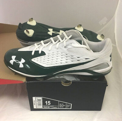 Nuevo Hombre Under Armour Natural II pro st Beisbol Tacos Talla 15M Blanco /