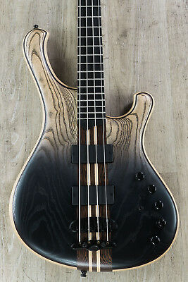 Mayones Viking 4 4-String Bass, Dirty Black Horizon, Ebony Fretboard