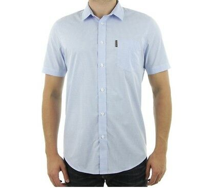 3ab0be50f52 Ben Sherman Short Sleeve Shirt Size S Sky Blue 100% Authentic New with Tags