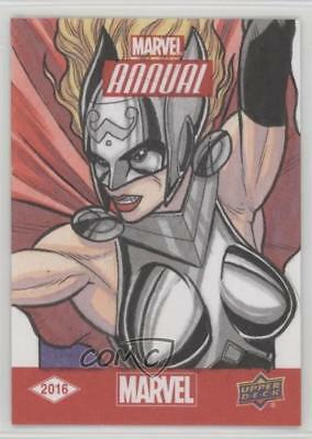 2016 Upper Deck Marvel Annual Sketch Cards #SKT Nathan Nelson Auto Card 5x5