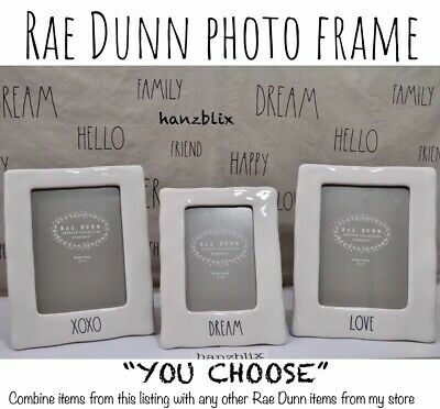 """Rae Dunn Photo Frame Ceramic THIS IS US, FAMILY """"YOU CHOOSE"""" NEW HTF RARE 2018"""