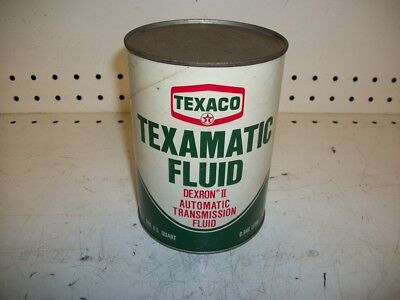 Vintage Texaco Oil Texamatic Transmission Fluid 1 Quart Can unopened Dexron ll