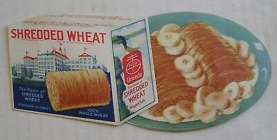 Fantastic  Die-Cut Advertising Piece, Shredded Wheat, Super Graphics