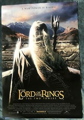 Lord Of The Rings Original (Ds) Double Sided Movie Poster Two Towers Saruman