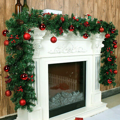 2.7m /9ft Christmas Garland XMAS Decorations Imperial Pine Fireplace Wreath