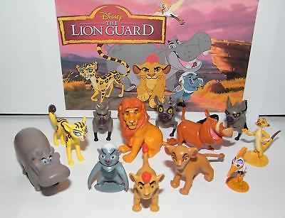 Disney The Lion Guard Deluxe Figure Set of 13 with Prince Kion, Cub Kiara, Bunga