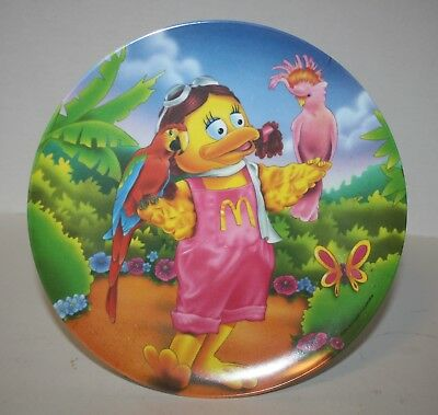 1996 McDonald's Birdie in the Park Collectible Plastic Plate Never Used