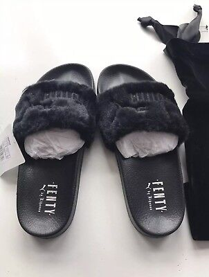 7e49609d3 PUMA FENTY FUR Slides Rihanna Bay Mint Green Genuine Shoes - £15.00 ...