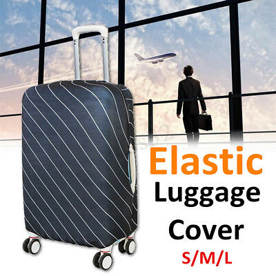 20-30'' Elastic Travel Luggage Cover Protector Suitcase Dustproof Bag Suit Cover