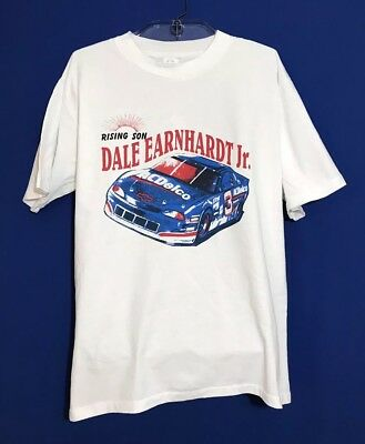 005f121d9649 Vintage Dale Earnhardt Jr NASCAR T-Shirt Racing #88 XL Chevy White Single  Stitch