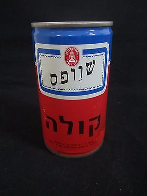 Schweppes cola: a 330 ml  empty steel can, israel, early 80's,1st israel issue.