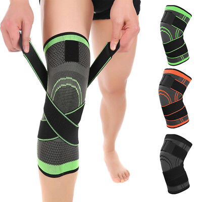 3D Weaving Knee Pads Braces Strap Elastic Crossfit Fitness Cycling Knee Support