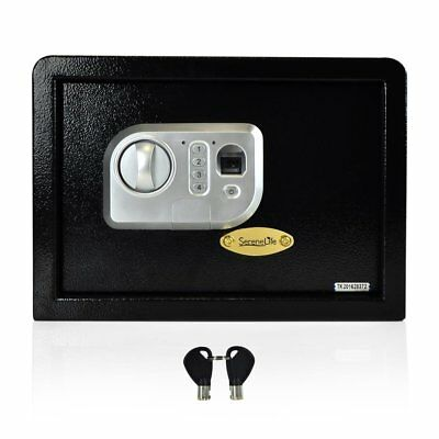 SereneLife Electronic Fingerprint Safe Box with Mechanical Override, (slsfe18fp)