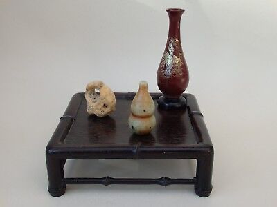 Quality Antique Chinese Carved Hardwood Zitan Scholars Vase Display Stand Qing