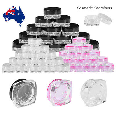 100pc mini White Plastic Cosmetic Sample Container 10 Grams Jars Pot Small Empty