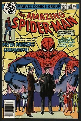 Amazing Spider-Man #185 High Grade Glossy Cents White Pages Bought It Myself