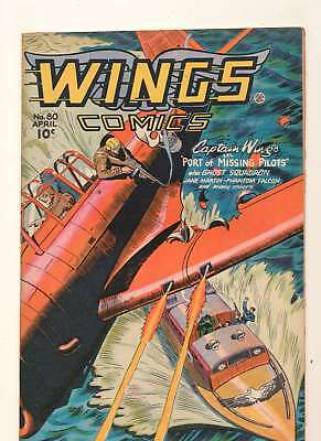 Wings Comics #80 in Very Fine minus condition. Fiction House comics