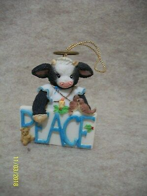 PEACE - Cow Ornament