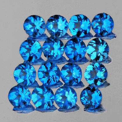 2.30 Mm 20 Pieces Round Natural Intense Aaa Ice Blue Apatite