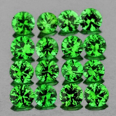 1.80 mm ROUND 35 PIECES NATURAL CHROME GREEN TSAVORITE GARNET [FLAWLESS-VVS]