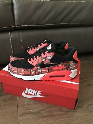 online store d5797 0fdfc Nike x Atmos Air Max 90 Box Print We love Nike Crimson UK8.5 BNIB