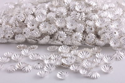 1000 Pcs Silver Plated beads caps spacer  findings 6mm