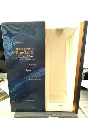 Johnnie Walker Blue Label Special Limited Release Ghost and Rare empty box.