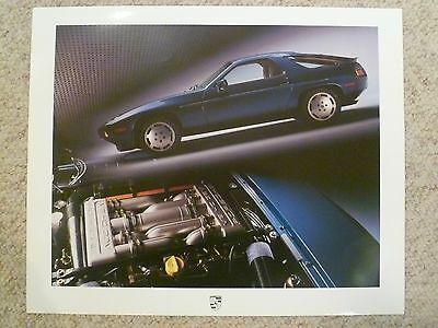 1986 Porsche 928 Coupe Showroom Advertising Sales Poster RARE! Awesome 20x16