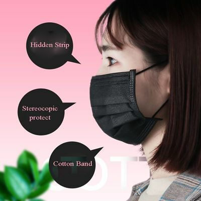 Disposable Mask Black Mouth Face Non-vowen For Microblading Tattoo Accessories