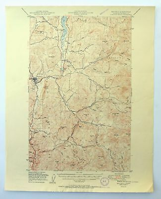 Republic Washington Vintage 1951 USGS Topo Map Curlew Lake Topographical