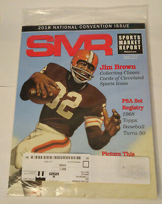 SMR Sports Market Report PSA/DNA Guide Magazine #289 Jim Brown Aug 2018 SEALED