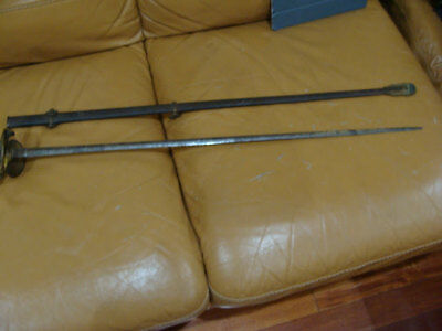 Vintage Civil War Era? Dress Sword Single-Handed Double Edge With Scabbard