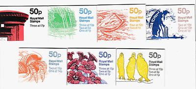 GB 50p Folded Booklets 1985-1988    FB1A-FB30  Single Booklets PART TWO