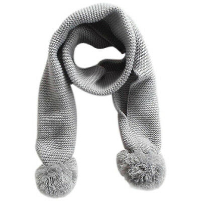Baby Neck Winter Warm Solid Color Scarf Boy Girl Knitted Scarf (Gray) U9F3) TP