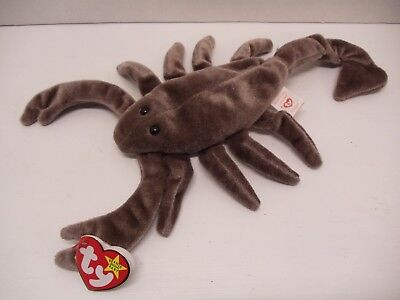 Ty Beanie Babies  1998 Stinger Brown Scorpion Excellent Tag