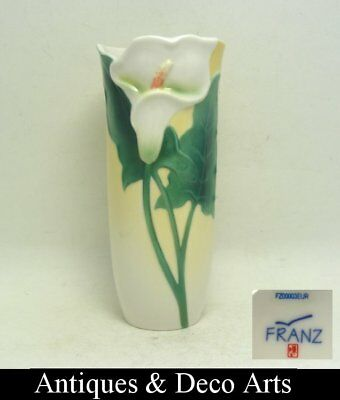 Sculptured Porcelain Calla Lily Flower Vase by Franz