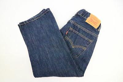 Levis 550 Relaxed Boys Dark Wash Jeans Size 8 Husky 28 x 22 -MISLABELED 28 x 23