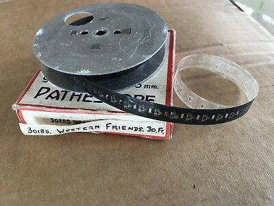 PATHESCOPE 9.5mm FILM Cine Reel WESTERN FRIENDS  30185 30ft