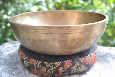 "Antique Tibetan Singing Bowl  7,8""   7 pure metals handmade Nepal Amazing sound"