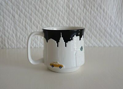 Starbucks New York City Skyline Large Coffee Mug Yellow Cab Liberty Empire 2010