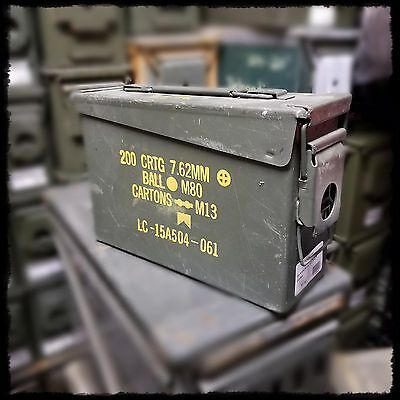 USGI Military Ammo Can M19 30 Cal Ammunition Box Surplus Steel Sealed