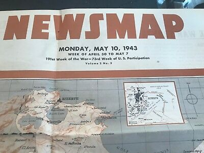 Large WW2 Vintage Newsmap Posters (Lot of 26)