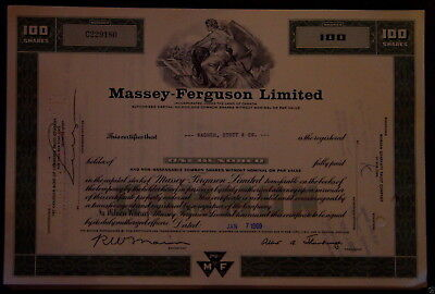 Lot 50 X Massey-Ferguson Limited 100 shares